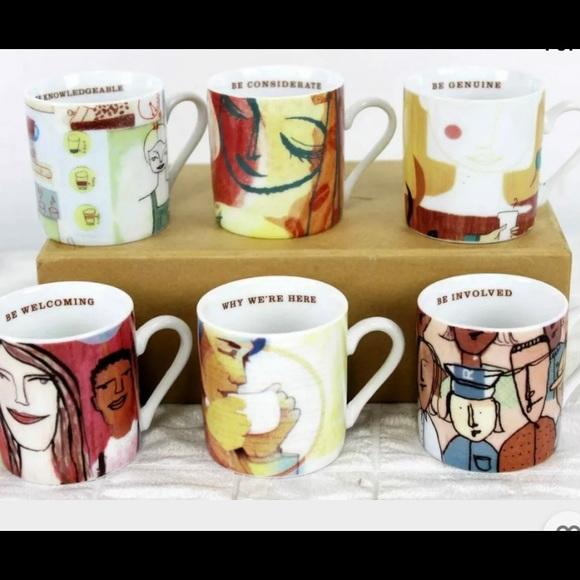 Starbucks 6 Mini Mugs Leadership 2005 Espresso